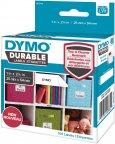 """Dymo LW -kestotarrat 1"""" x 2-1/8"""" (25 mm x 54 mm) valkoinen polyesteri, 160 tarraa"""