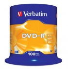 Verbatim DVD-R 16X media 4.7GB, 100 kpl paketti spindle-muovikotelossa