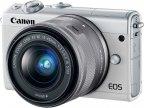 Canon EOS M100 -mikrojärjestelmäkamera, valkoinen + 15-45 mm objektiivi