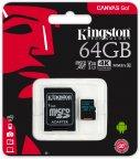 Kingston 64 Gt microSD Canvas Go! UHS-I Speed Class 3 (U3) -muistikortti