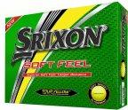 Srixon Soft Feel -golfpallo, keltainen, 12 kpl