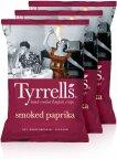 Tyrrells Smoked Paprika -perunalastut, 3 x 150 g