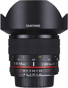 Samyang 14mm f/2.8 IF ED UMC Aspherical käsitarkenteinen laajakulmaobjektiivi, Canon