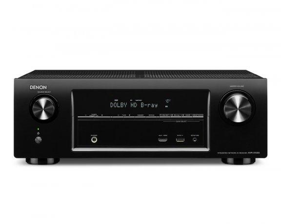 Denon AVR-X1000, 5.1-kanavainen AV-vahvistin, väri musta