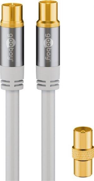 Goobay 135 dB -antennikaapeli, 10 m, valkoinen