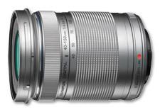 Olympus M.ZUIKO DIGITAL ED 40-150mm 1:4.0-5.6 R -telezoomobjektiivi, hopea