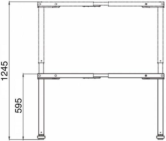 Elfen Ergodesk Pro -sähköpöytä, 140 x 80 cm, musta, kuva 3