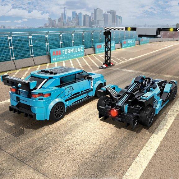 LEGO Speed Champions 76898 - Formula E Panasonic Jaguar Racing GEN2 car & Jaguar I-PACE eTROPHY, kuva 6