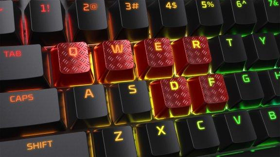 HyperX FPS & MOBA Gaming Keycaps -vaihtonäppäimet, punaiset, kuva 3
