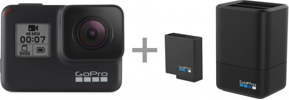 GoPro HERO7 Black + GoPro Dual Battery Charger, kuva 2