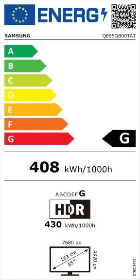 """Samsung QE65Q800TAT 65"""" 8K Ultra HD LED-televisio, kuva 6"""