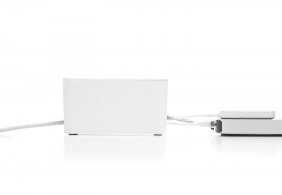Bluelounge Cablebox Mini -kaapelikotelo, valkoinen