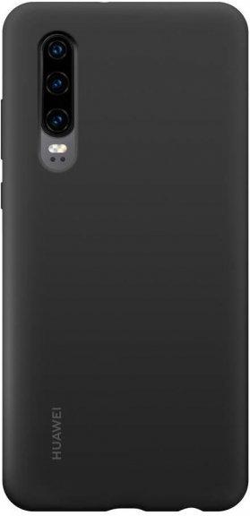 Huawei P30 Silicone Cover -suojakuori, musta