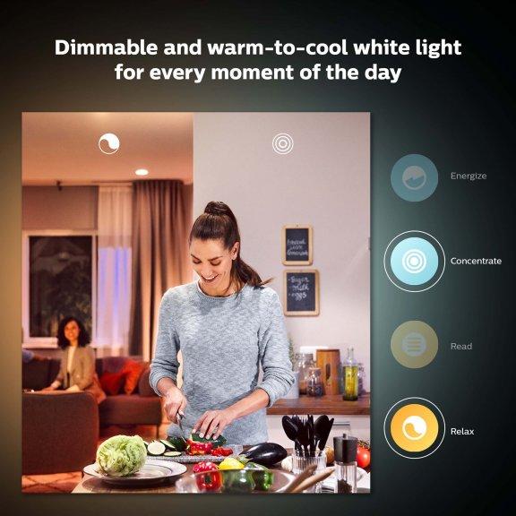 Philips Hue-LED-älylamppu multipack, BT, White ambiance, GU10, 2-pack, kuva 6
