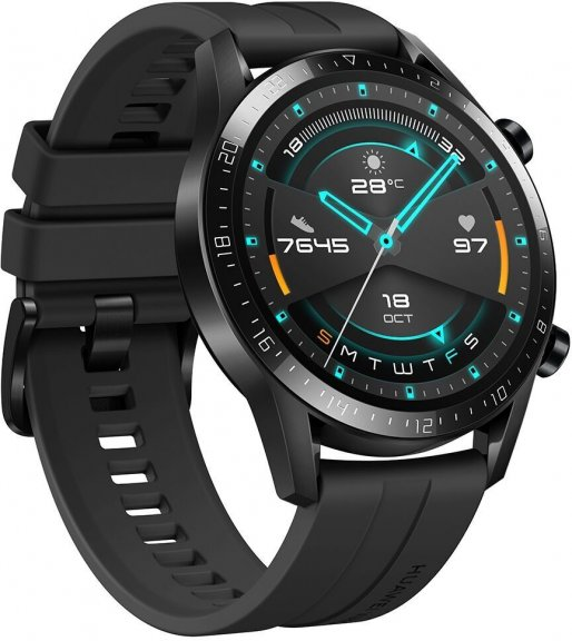 Huawei Watch GT2 -älykello , Musta 46 mm silikoniranneke, kuva 6