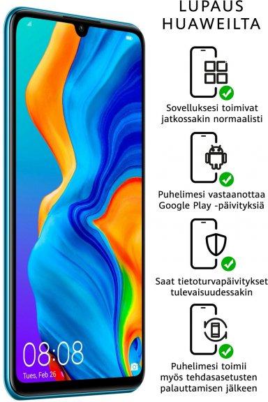 Huawei P30 Lite -Android-puhelin 128/4 Gt, Dual-SIM, revontuli