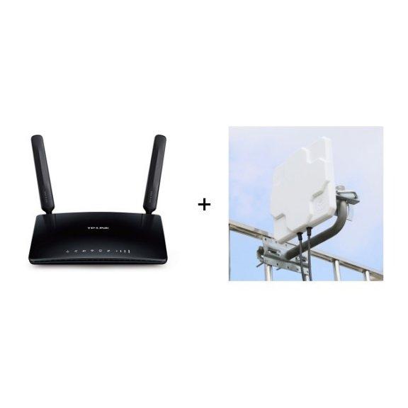 TP-LINK TL-MR6400 -LTE-modeemi ja WiFi-tukiasema + kaksoisantenni 5 m kaapelilla