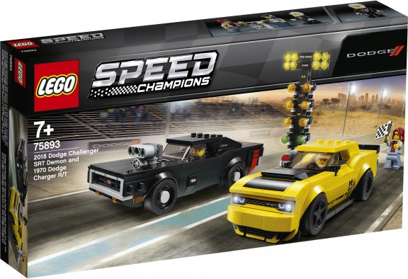 LEGO Speed Champions 75893 - 2018 Dodge Challenger SRT Demon ja 1970 Dodge Charger R/T