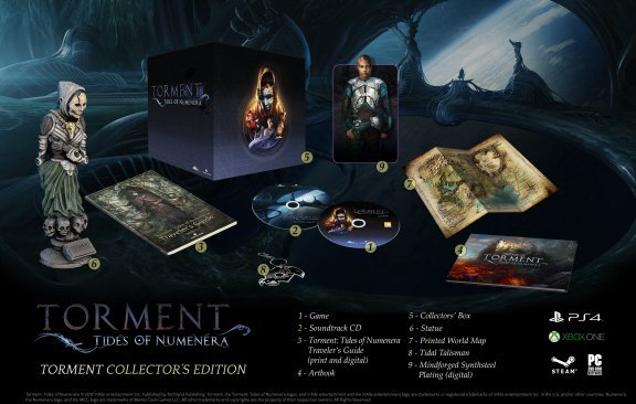 Torment Tides of Numenera - Collector's Edition -peli, PS4