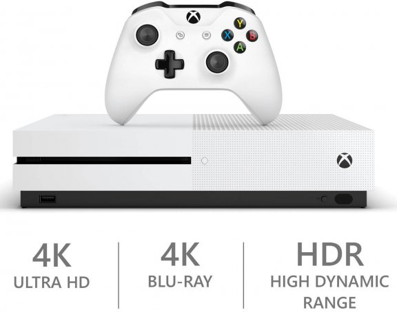 Microsoft Xbox One S 500 Gt -pelikonsoli, valkoinen, kuva 3