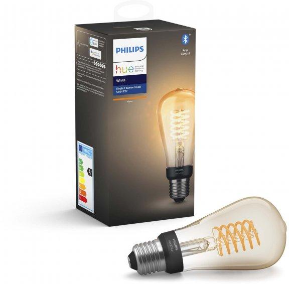 Philips Hue -filamenttiälylamppu, BT, White, Filament Edison, E27, kuva 3