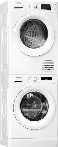 Whirlpool FWF91438W -pyykinpesukone ja FT M22 9X2 -kuivausrumpu