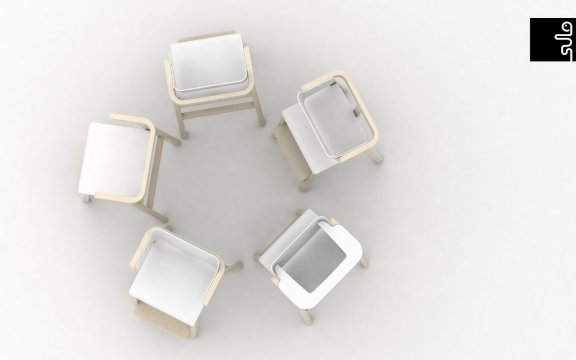 Sulo-tuoli, valkoinen/koivu, kuva 10