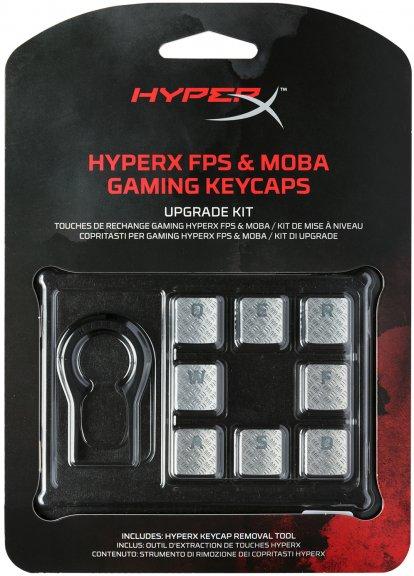 HyperX FPS & MOBA Gaming Keycaps -vaihtonäppäimet, titaanin väriset, kuva 5