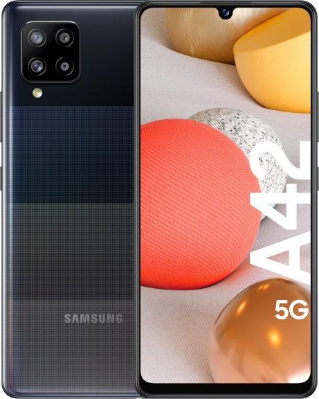 Samsung Galaxy A42 5G-Android-puhelin 128 Gt Dual-SIM, musta