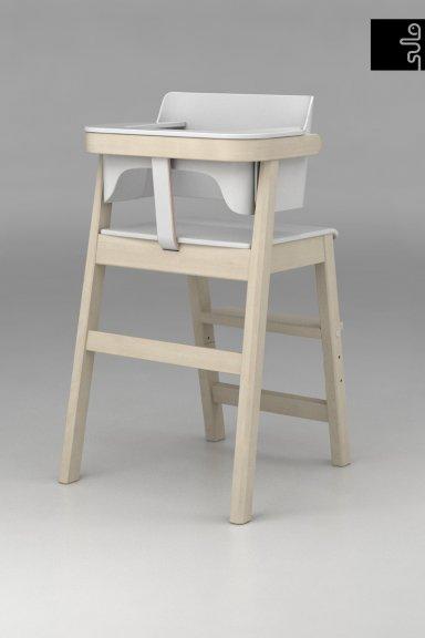 Sulo-tuoli, valkoinen/koivu, kuva 4