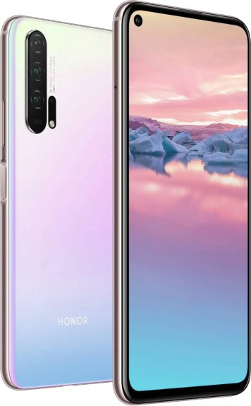 Honor 20 Pro -Android-puhelin Dual-SIM 256 Gt, Icelandic Frost