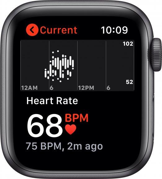 Apple Watch Nike SE (GPS) 40 mm tähtiharmaa alumiinikuori ja antrasiitti/musta Nike Sport ‑ranneke, MYYF2, kuva 4