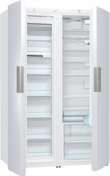 UPO R6601 -jääkaappi ja UPO -pakastinkaappi FN6601, valkoinen
