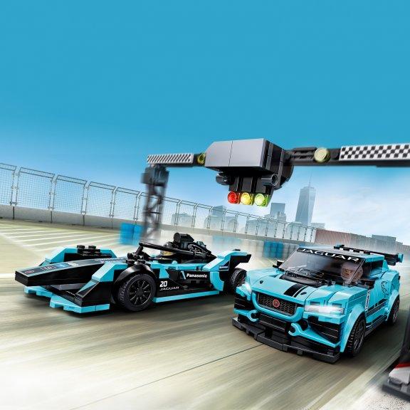 LEGO Speed Champions 76898 - Formula E Panasonic Jaguar Racing GEN2 car & Jaguar I-PACE eTROPHY, kuva 7