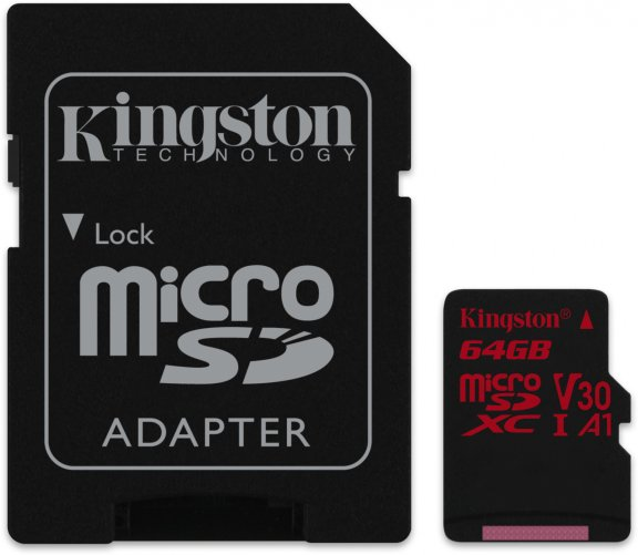 Kingston 64 Gt microSD Canvas React UHS-I Speed Class 3 (U3) -muistikortti, kuva 3