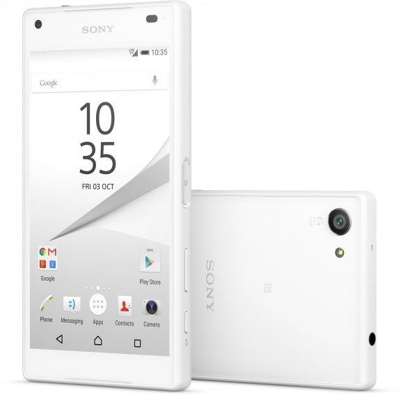 Sony Xperia Z5 Compact Android-puhelin, valkoinen
