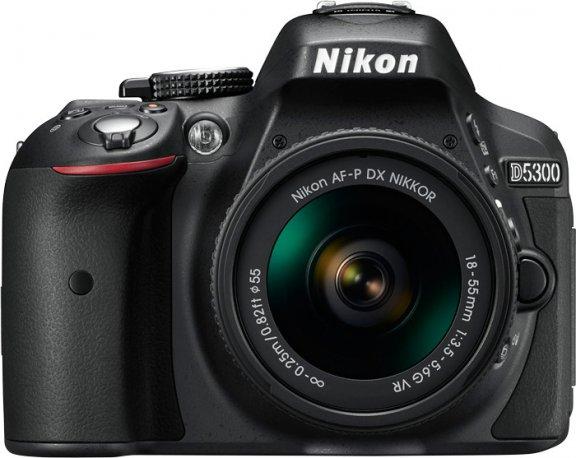 Nikon D5300 KIT järjestelmäkamera + AF-P DX NIKKOR 18-55MM F/3.5-5.6G VR