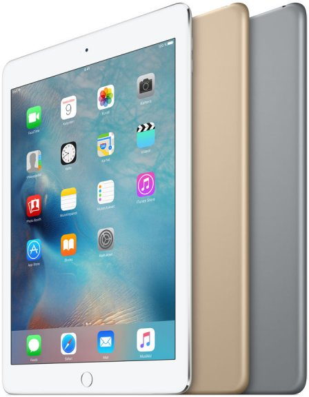 Apple iPad Air 2 16 Gt Wi-Fi -tabletti, hopea, MGLW2, kuva 4