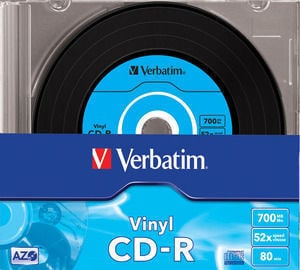 Verbatim Datalife Plus Vinyl 52X 80min/700MB SuperAzo CD-R levy