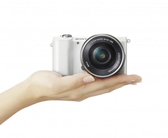 Sony α5000 KIT 16-50 mm, valkoinen, kuva 3
