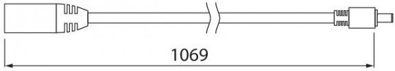 Airam Linear jatkojohto, 1 m, kuva 2
