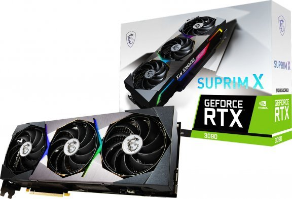 MSI GeForce RTX 3090 SUPRIM X 24G -näytönohjain PCI-e-väylään