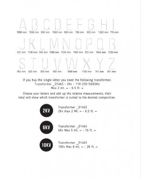 "Seletti ""Alphacrete"" Letter A -valokirjain, betoni ja lasi, 40cm, kuva 5"