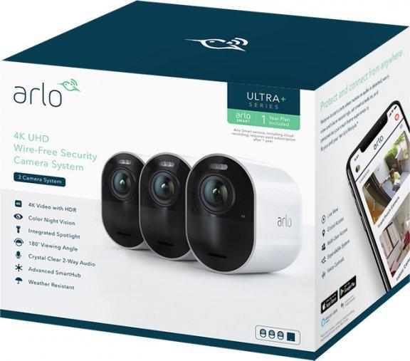 Arlo Ultra -valvontajärjestelmä kolmella 4K Ultra HD -tasoisella kameralla, kuva 16