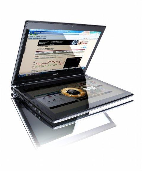 """Acer ICONIA - kahdella 14"""" kosketusnäytöllä varustettu kannettava tietokone"""