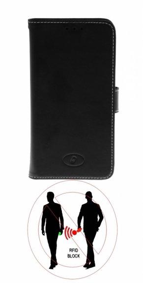 Insmat Exclusive Flip Case -lompakkokotelo, Oneplus 5, musta