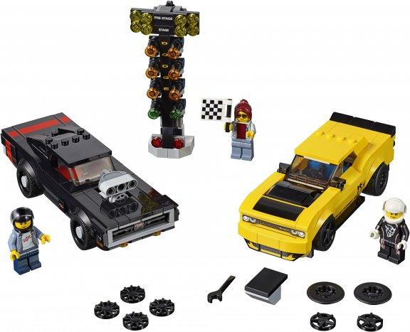 LEGO Speed Champions 75893 - 2018 Dodge Challenger SRT Demon ja 1970 Dodge Charger R/T, kuva 2