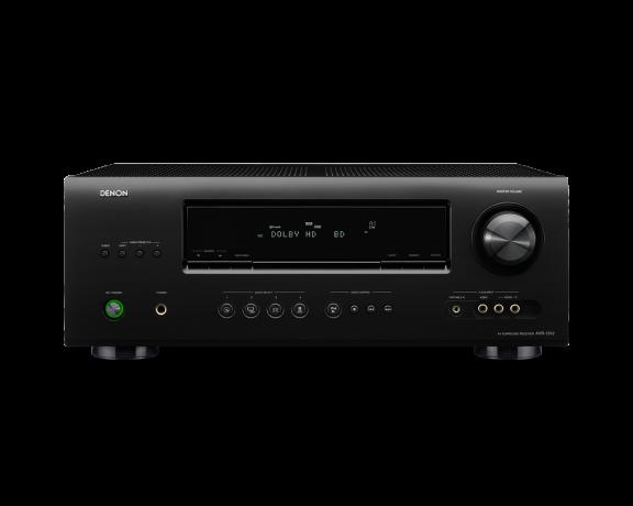 Denon AVR-1312, 5.1-kanavainen AV-vahvistin, väri musta