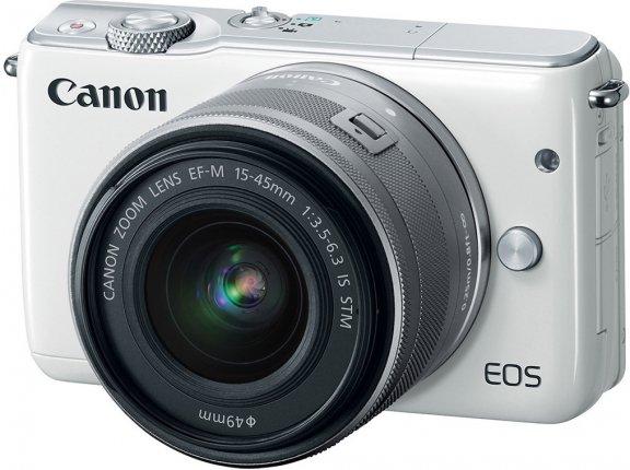 Canon EOS M10 valkoinen + EF-M 15-45 mm IS STM