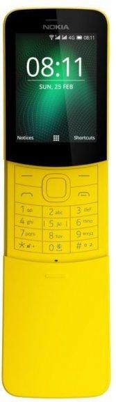 Nokia 8110 4G (2018) -peruspuhelin, keltainen, kuva 2